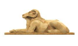Egiziano Ram Headed Sphinx Statue Immagine Stock Libera da Diritti