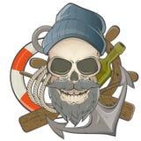Żeglarz czaszka Zdjęcia Royalty Free