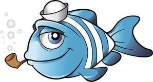 Żeglarz kreskówki rybi wektor Obrazy Royalty Free
