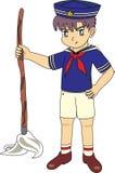 Żeglarza dzieciaka anime styl Zdjęcia Royalty Free
