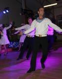 Żeglarza taniec bullseye wykonujący tancerzami, aktorzy ansambl St Petersburg twierdzi halę koncertową Obrazy Royalty Free