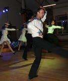 Żeglarza taniec bullseye wykonujący tancerzami, aktorzy ansambl St Petersburg twierdzi halę koncertową Zdjęcie Royalty Free