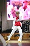 Żeglarza taniec bullseye wykonujący tancerzami, aktorzy ansambl St Petersburg twierdzi halę koncertową Fotografia Royalty Free