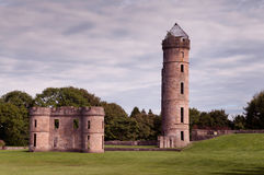 Eglinton Castle Irvine North Ayrshire Scotland. Ancient Eglinton Castle set in the grounds of Eglinton Park Irvine North Ayrshire Scotland. Connections with poet Royalty Free Stock Photo