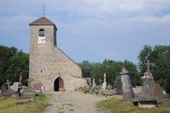 Eglise圣徒安德烈De Mirebel 图库摄影