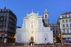 Eglise圣徒Ferreol在马赛在法国 免版税库存图片