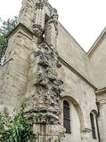 Eglise Свят-Julien-le-Pauvre-одн самых старых церков в Париже Стоковое Фото