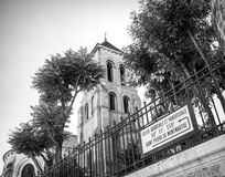 Eglise Abbatiale et paroissiale, Montmartre, black and white Stock Photos