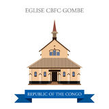 Eglise CBFC-Gombe in Republic of the Congo vector Royalty Free Stock Image
