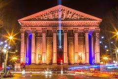 Eglise de la Madeleine, Paris, França Imagens de Stock Royalty Free