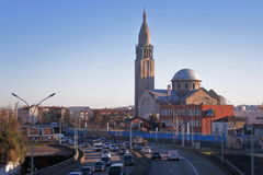 Eglise du Sacre-Coeur de Gentilly - París - Francia Fotos de archivo libres de regalías