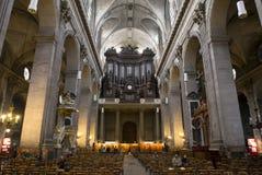 Eglise Heilige Sulpice, Parijs, Frankrijk Royalty-vrije Stock Afbeeldingen