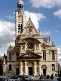Eglise Helgon-Etienne-du-Mont, Paris, Frankrike Arkivbilder