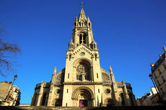 Eglise Notre Dame de la Croix en París Foto de archivo libre de regalías