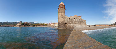Eglise Notre Dame des Anges Panorama Royalty Free Stock Photos