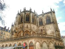 Eglise Paroisse Catholique, городок Лиона старый, Франция Стоковое фото RF