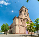 Eglise Royale圣路易斯在Neuf Brisach,阿尔萨斯,法国 免版税图库摄影