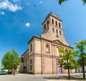 Eglise Royale Saint-Louis i Neuf Brisach, Alsace, Frankrike Royaltyfri Fotografi