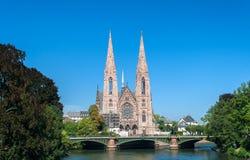 Eglise Saint-Paul in Strasbourg. France Stock Photos