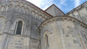 The church of Talmont-sur-Gironde royalty free stock photo
