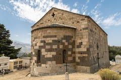 Eglise San Raineru près de Lunghignano dans la région de Balagne de la Corse Photo stock