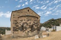 Eglise San Raineru près de Lunghignano dans la région de Balagne de la Corse Images stock