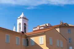 Eglise St. Erasme Korsika-Insel, Frankreich stockbilder