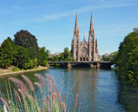 Eglise St Paul De Strasbourg Photos libres de droits