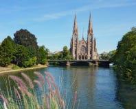 Eglise St Paul de Strasburgo Fotografie Stock Libere da Diritti