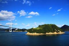 Żeglować za Japońskimi wyspami Obrazy Stock