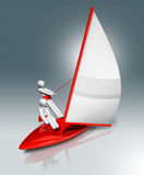Żeglować 3D symbol, Olimpijscy sporty Zdjęcie Stock