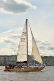 Żeglowania regatta na morzu Zdjęcia Stock