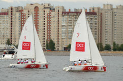 Żeglowania regatta na morzu Zdjęcie Royalty Free