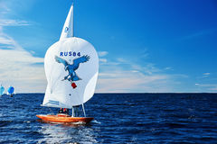 Żeglowania regatta w Rosja Zdjęcia Royalty Free
