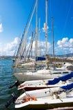 żeglowania Sardinia jachty fotografia royalty free