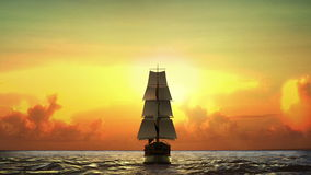 Żeglowanie łódź przez morza, Biznesowy wzrok, strategii zaznaczać ilustracji
