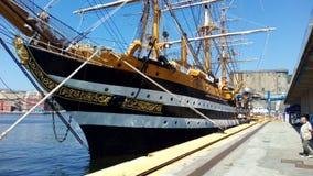 Żeglowanie łódź Włoska marynarka wojenna Fotografia Royalty Free