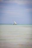 Żeglowanie łódź w Zanzibar fotografia stock