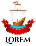 Żeglowanie łódź wektorowy loga szablon Obrazy Stock