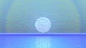 Żeglowanie łódź zmierzchem - 3D odpłacają się ilustracji