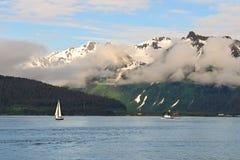 Żeglowanie Alaska Fotografia Royalty Free