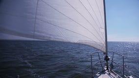 Żeglowanie jacht. Genua zbiory wideo