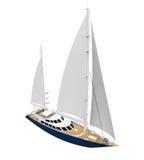 Żeglowanie jacht Odizolowywający ilustracji