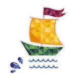 Żeglowanie jachtu odosobniona wektorowa ikona Zdjęcia Stock