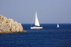 Żeglowanie łodzie Zdjęcia Stock