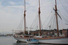 Żeglowanie łodzie w Oslo Fotografia Royalty Free