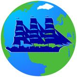 Żeglowanie ship-1 Zdjęcia Stock