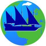 Żeglowanie ship-6 Zdjęcie Royalty Free