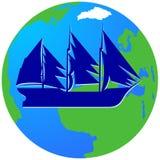 Żeglowanie ship-17 Obraz Royalty Free
