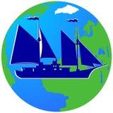 Żeglowanie ship-3 Obrazy Royalty Free